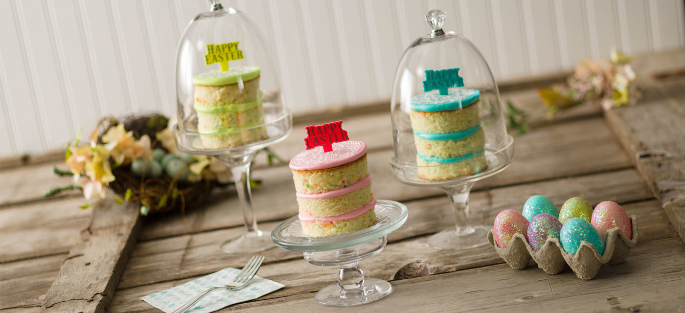 How-To Make Easter Naked Confetti Cakes