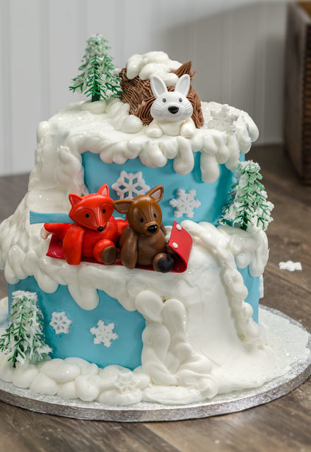 How-To Make Whimsical Winter Tiered Cake