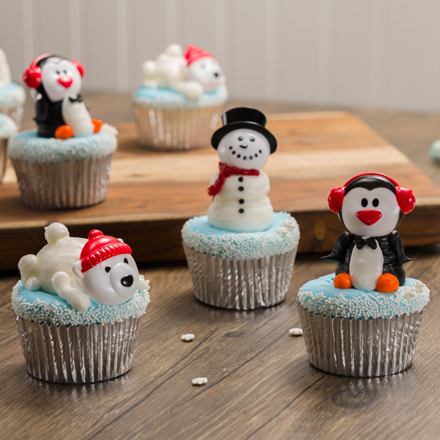 How-To Make Winter Buddies Cupcakes