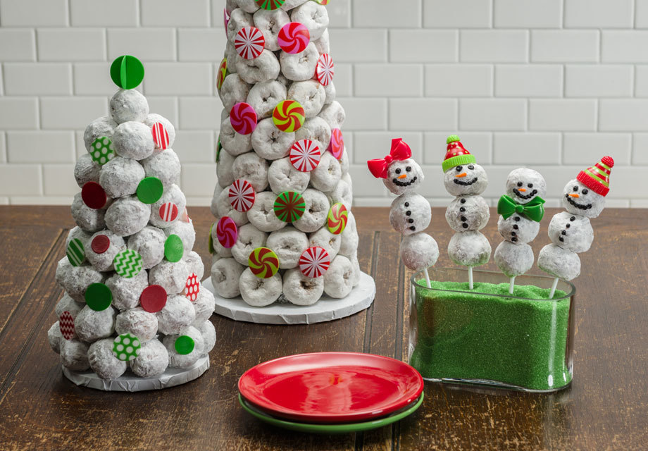 How-To Make Winter Wonderland Donut Trees