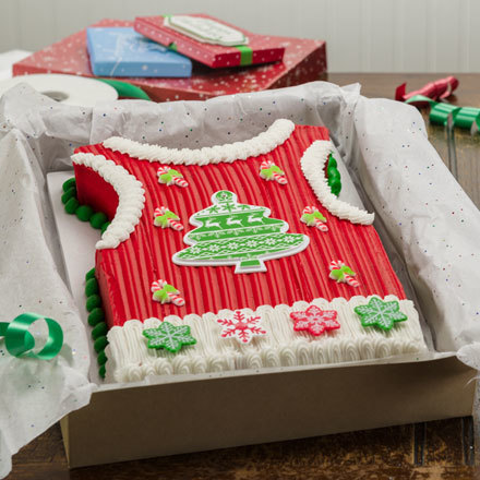 How-To Make an Ugly Sweater Vest Cake