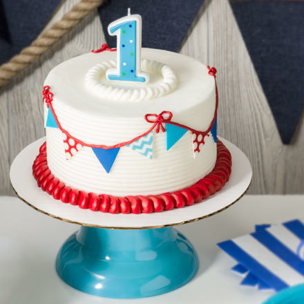 How-To Make a 1st Birthday Nautical Smash Cake