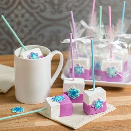 How-To Make Chocolate-Dipped SugarSoft Snowflake Marshmallow Pops