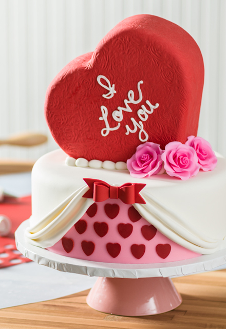 How-To Make a 2-Tier Valentine's Day Heart-Shaped Cake