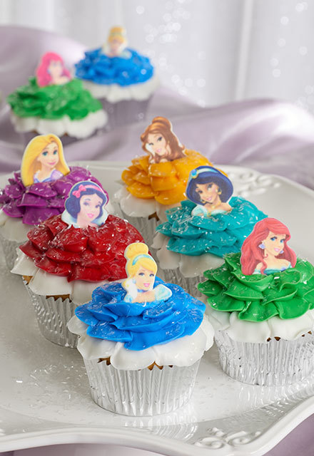 How-To Make Disney Princess Ruffled Dress Cupcakes
