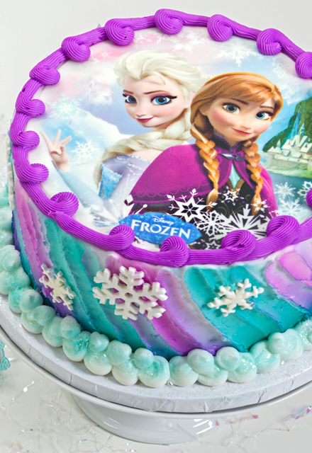 How-To Make a Frozen Sisters Cake Using an Edible Image
