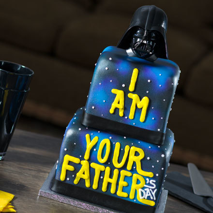"How-To Make an ""I Am Your Father's Day"" Darth Vader Cake"