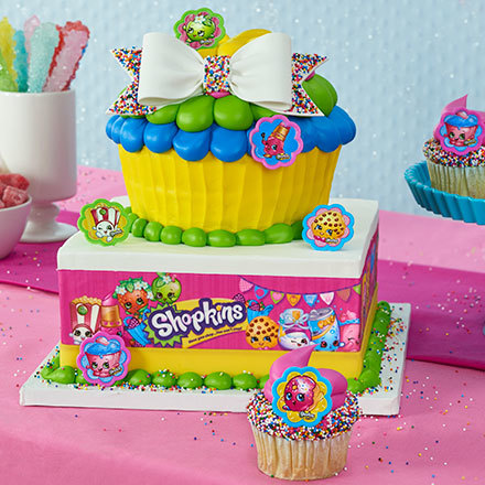 How to Make a Shopkins Jumbo Cupcake Cake and Cupcakes
