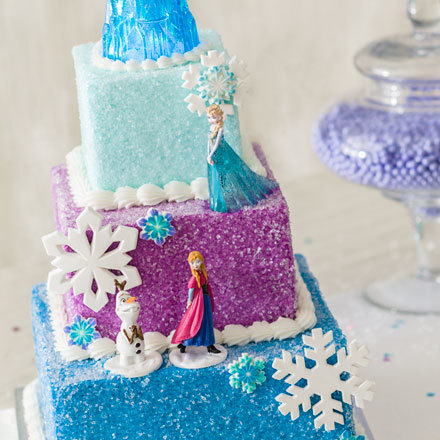 How-to Make a Disney Frozen Winter Magic Cake