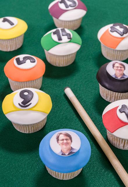 How-To Make a Pool Ball Cupcakes