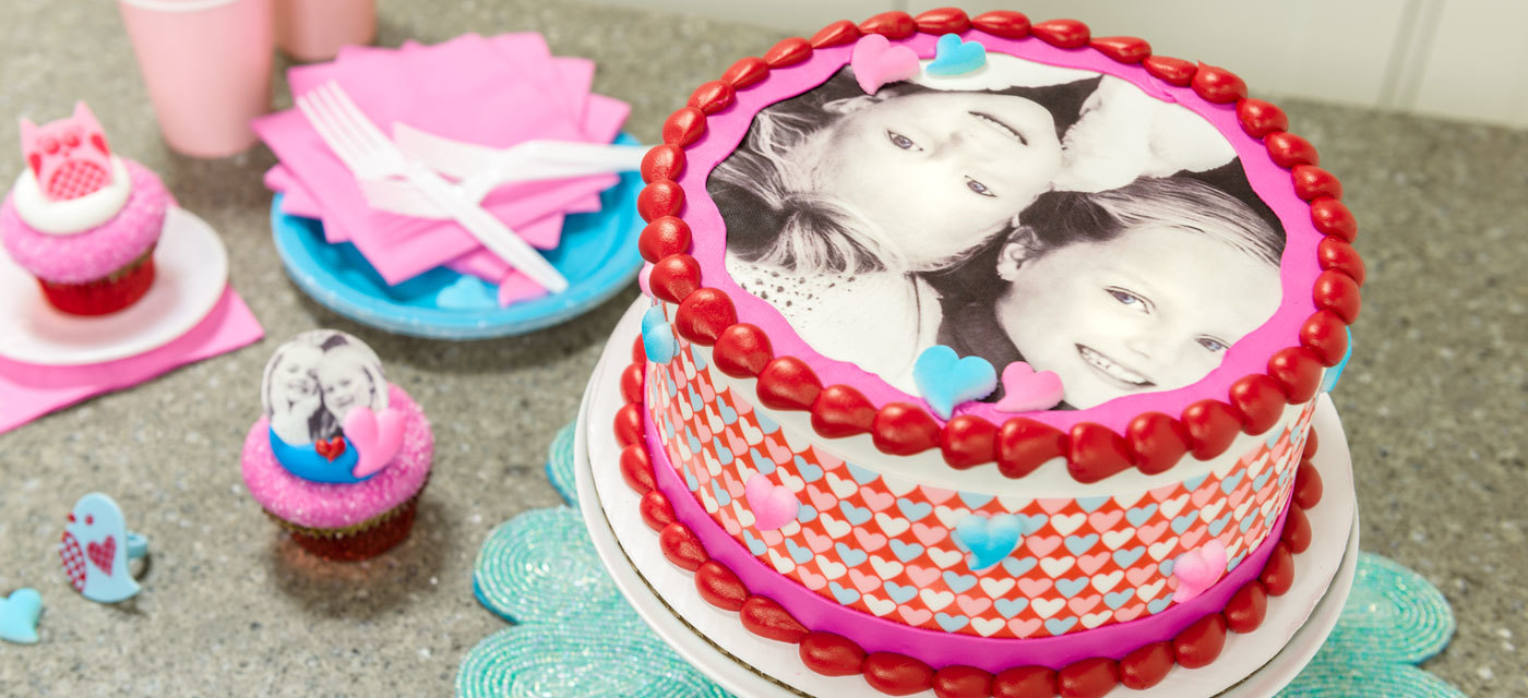 How-To Make a Valentine's Photo Cake