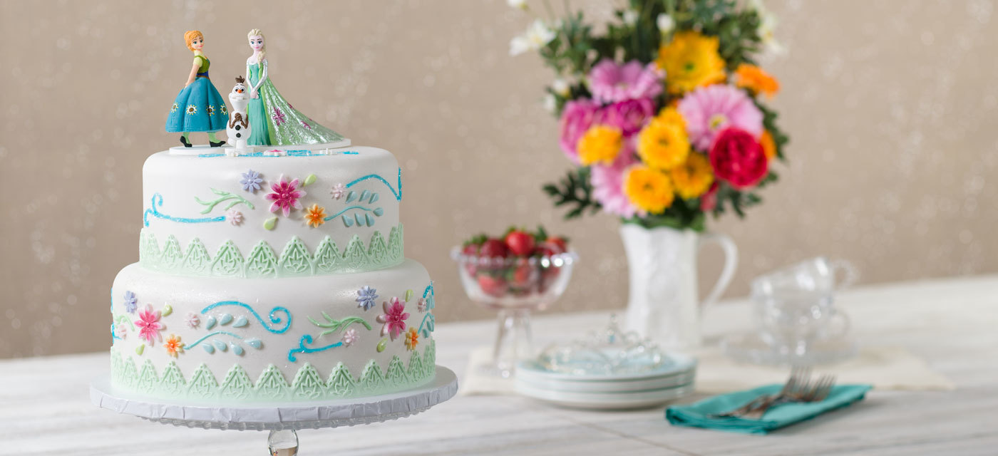 How-To Make a Frozen Fever Anna, Elsa & Olaf Cake