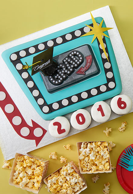 How To Make a Marquee Graduation Cake