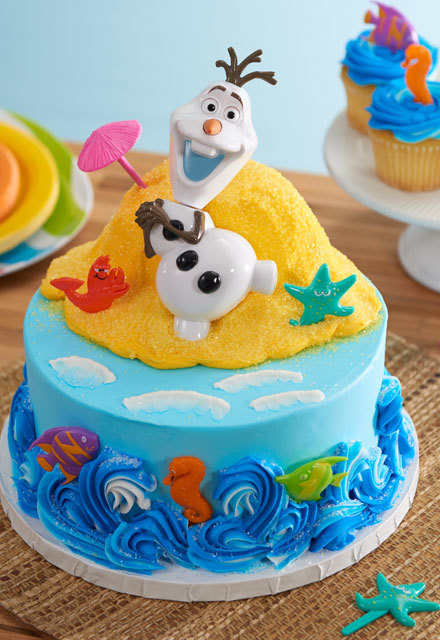 "How to Make an Olaf ""In Summer"" Cake"