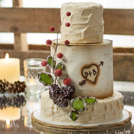 How-To Make a Winter Birch Wedding Cake