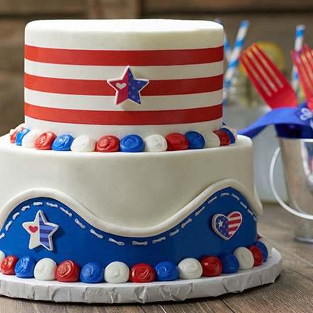 How to Make a Red, White and Blue Country Cake