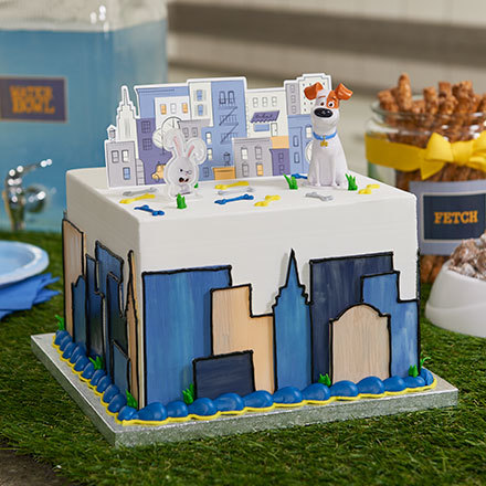 How to Make a Secret Life of Pets Cityscape Cake