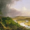 View from Mount Holyoke, Northampton, Massachusetts, After A Thunderstorm (The Oxbow) by Cole (49)