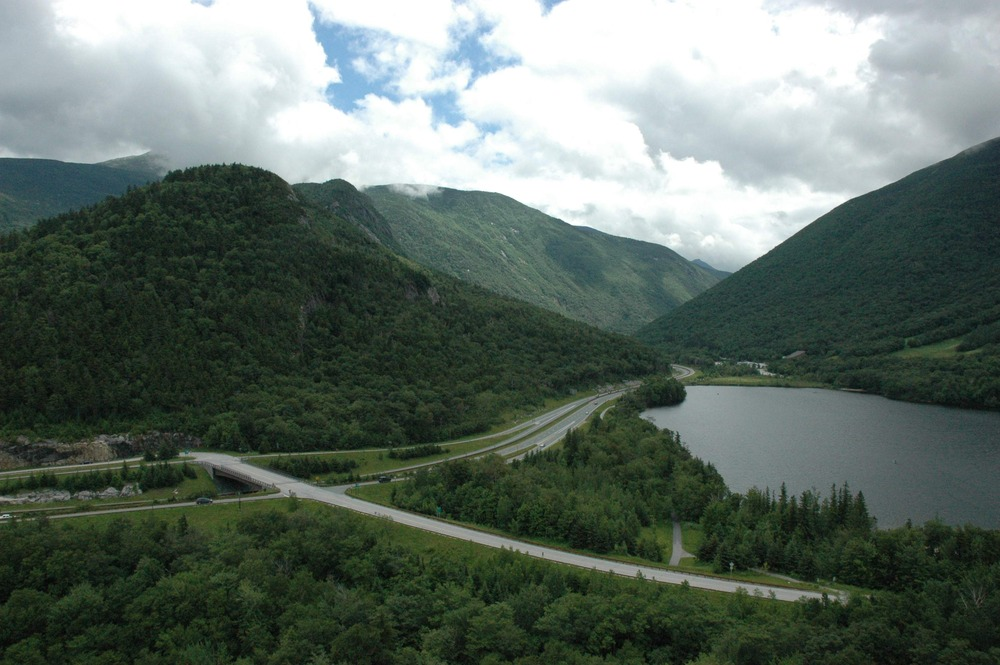 Franconia Notch from Artists Bluff