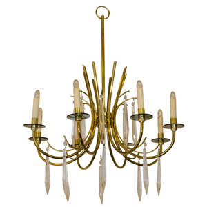 Brass-crystal_chandelier