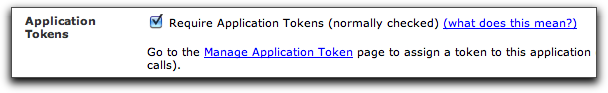 App token click