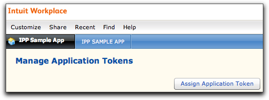 Assign token button
