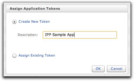 Create app token