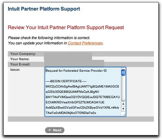 Request service provider id