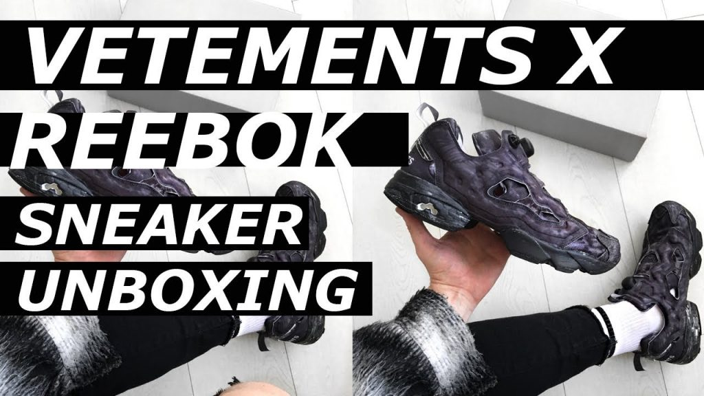 Vetements Reebok Instapump Fury Sneaker Unboxing | High End, Luxury, Expensive, Hypebeast | Gallucks