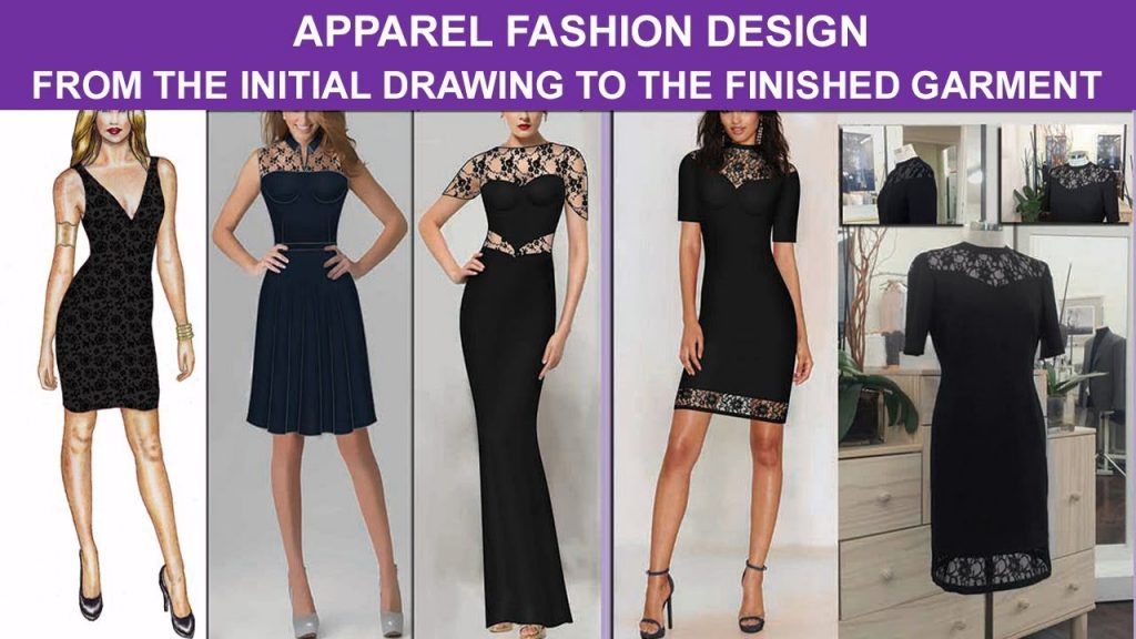 Fashion designer women apparel ready to wear and couture, from the drawing to the finished garment
