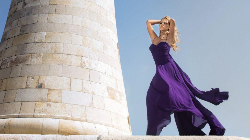 Fashion Design – Bojana Ugresic Purple Dress (Ad Campaign)