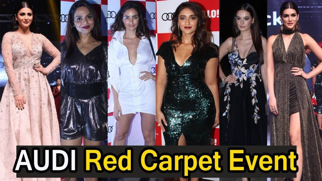 Ileana D'Cruz And Shruti Hassan At The Red Carpet Of Luxury And Fashion As Hello! And Audi