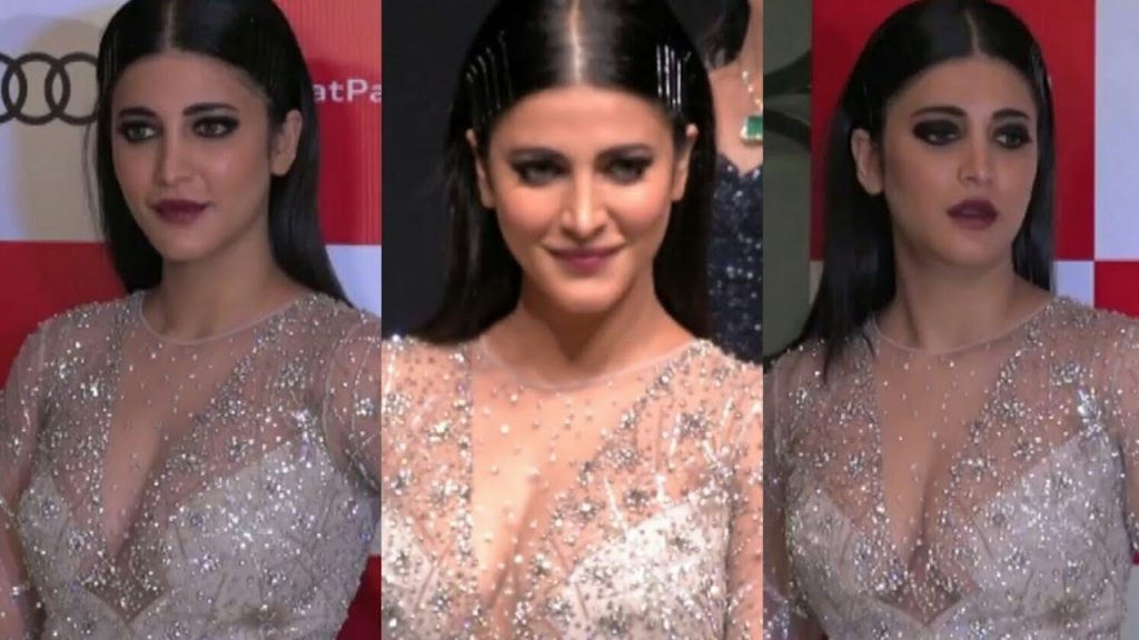 Shruti Hassan Hot in Transparent Dress