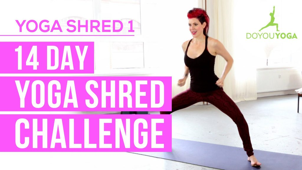 Cardio Yoga for Fat Burning – Day 1 – 14 Day Yoga Shred Challenge