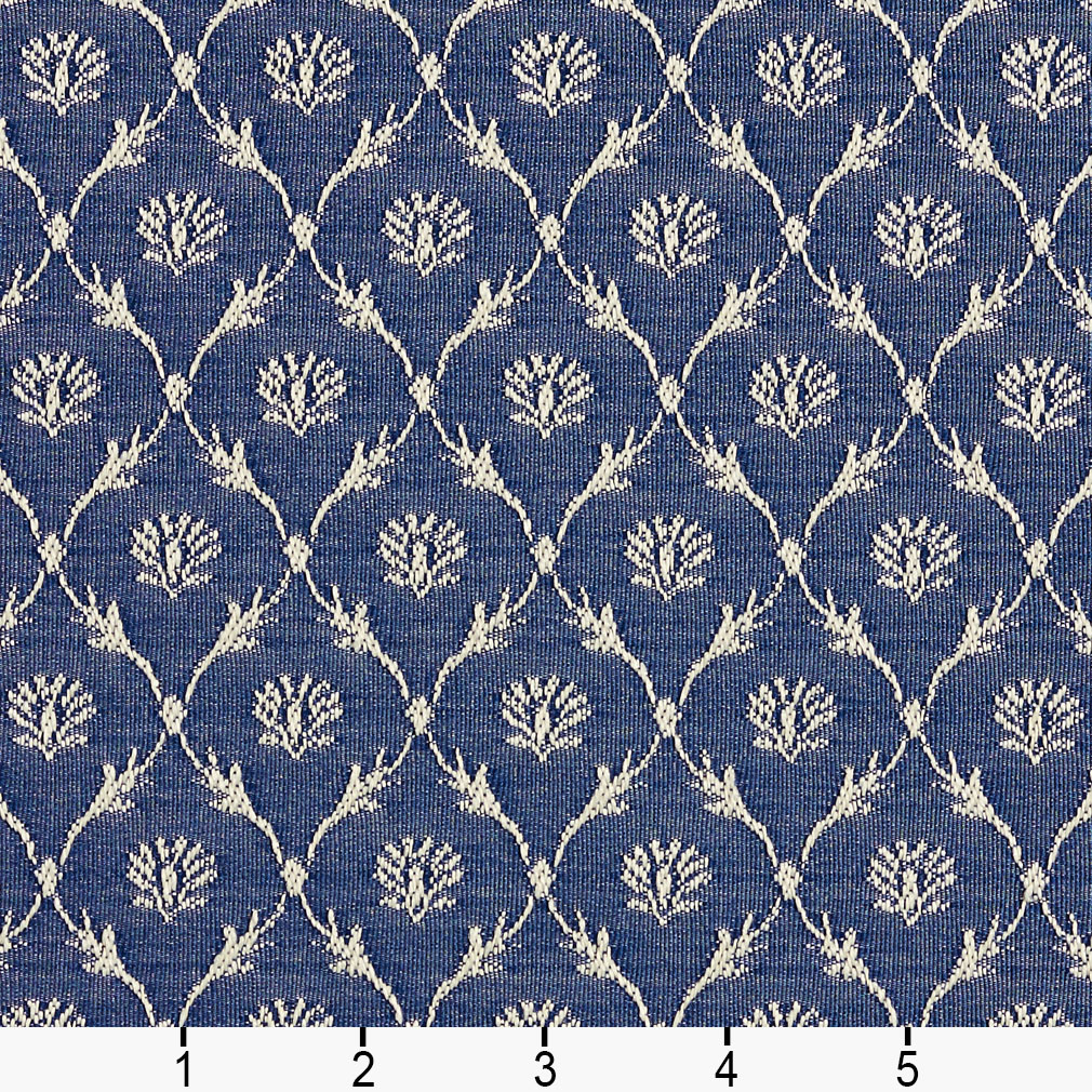 b636 navy blue floral trellis jacquard upholstery fabric by the yard ebay. Black Bedroom Furniture Sets. Home Design Ideas