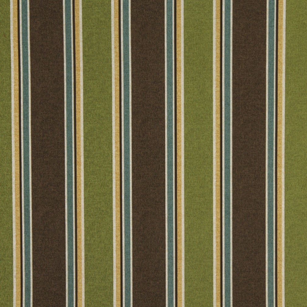 C425 Green Brown Blue Gold Striped Outdoor Indoor