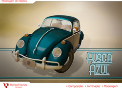 Foto do design Fusca Azul