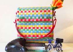Foto do design Bolsa Bike Carteiro Colours (pet reciclado)