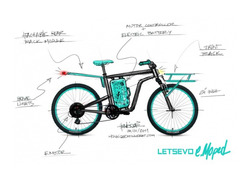 Foto do design e.Moped Conceito City Bike