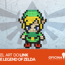 Foto do design Pixel Art do Link - The Legend of Zelda - Oficina DIY
