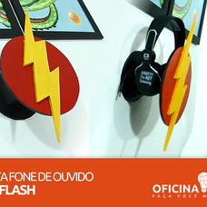 Foto do design Porta HeadPhone do THE FLASH - Oficina DIY