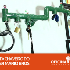 Foto do design Porta Chaveiro do Super Mario Bros - Oficina DIY