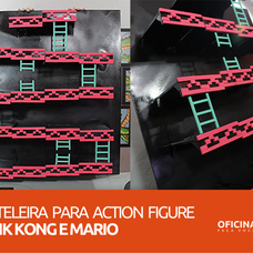 Foto do design Prateleira para Action Figure do Donk Kong e Mario - Oficina DIY