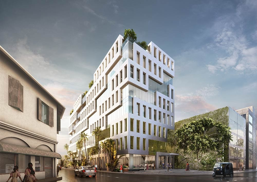 MVRDV's first project in Sri Lanka, Veranda Offices breaks ground