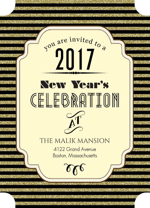 new year's eve invitation templates .