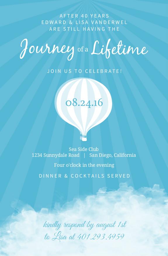 Lasting journey hot air balloon th wedding anniversary