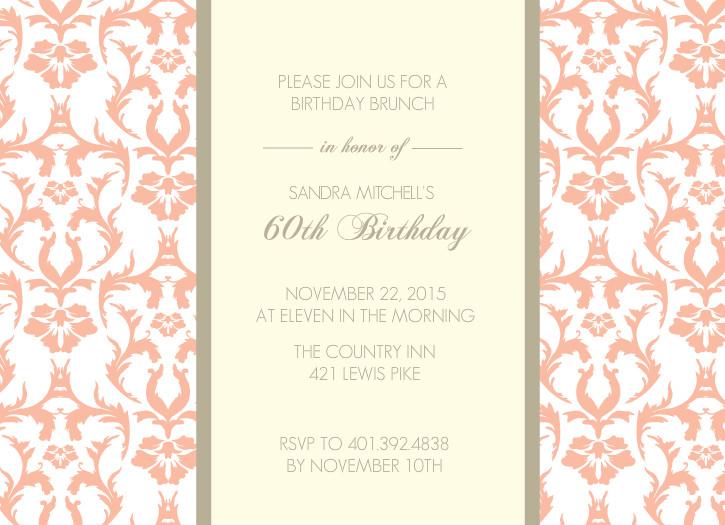 design details design name peach and texture 60th birthday invitation ...: www.inviteshop.com/designs/peach-texture-60th-birthday-invitation