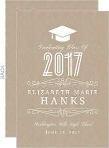 Classy Kraft Graduation Announcement