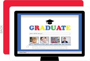 Time Flies Search Graduation Invitation