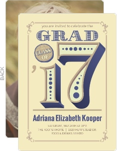 Unique Vintage Graduation Invitation Photo Card